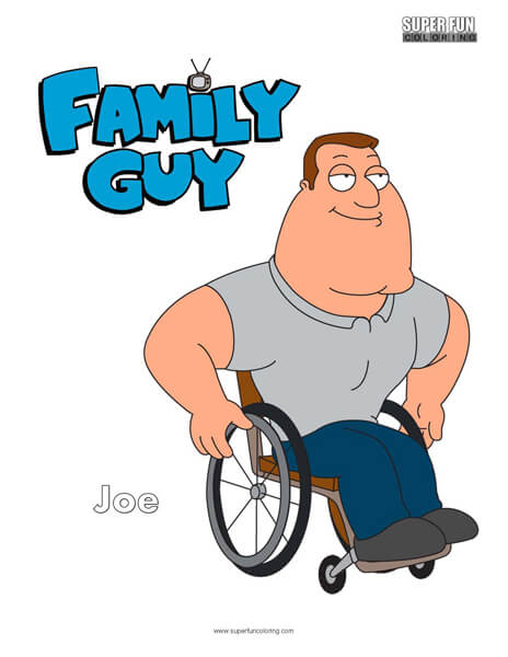 Joe Family Guy Coloring Sheet