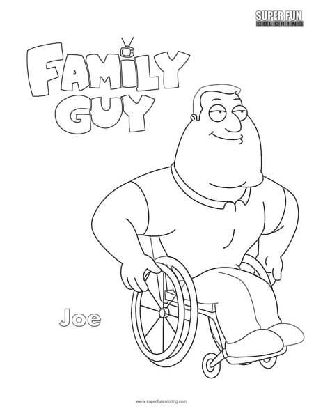 Joe- Family Guy Coloring Page