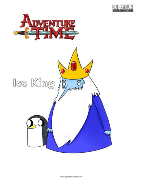 Ice King Adventure Time Coloring Page