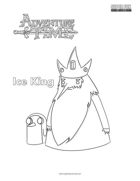 Ice King- Adventure Time Coloring Page