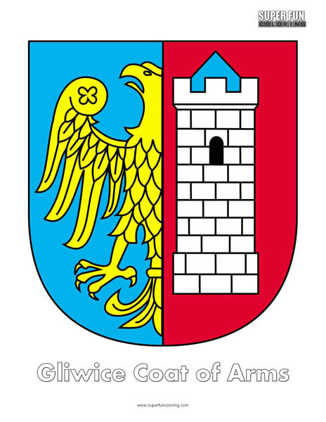 Gliwice Coat of Arms Coloring