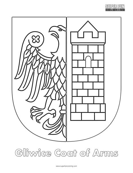Gliwice Coat of Arms Coloring Page