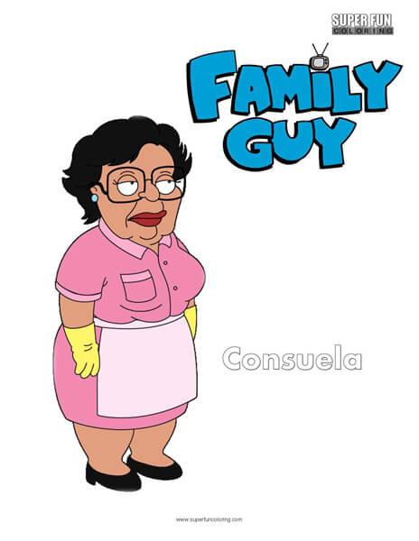Consuela Family Guy Coloring Sheet