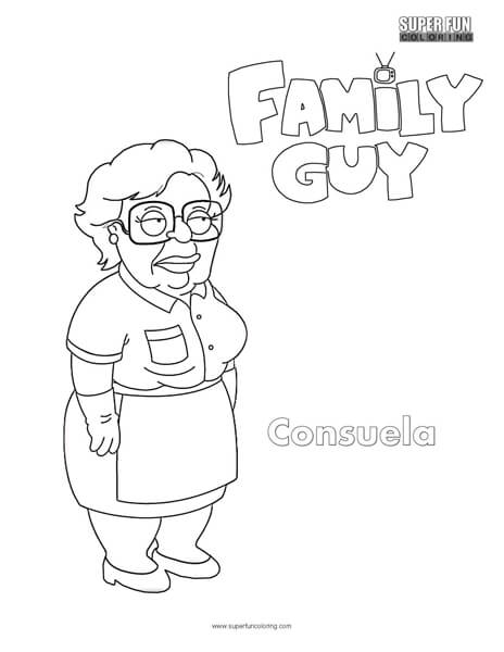 Consuela- Family Guy Coloring Page