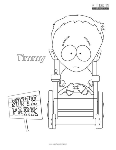 Timmy- South Park Coloring Page