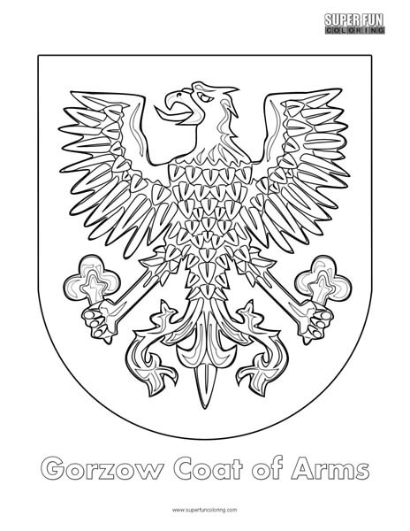 Gorzow Coat of Arms Coloring Page
