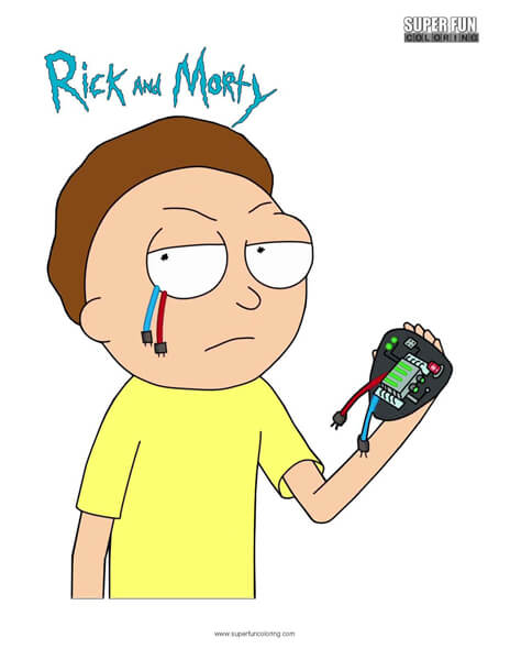 Morty- Rick and Morty Coloring Page