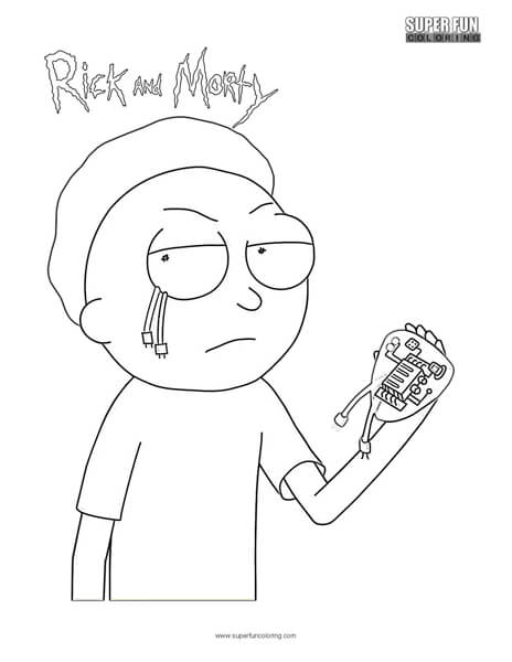 Evil Morty- Rick and Morty Coloring Page
