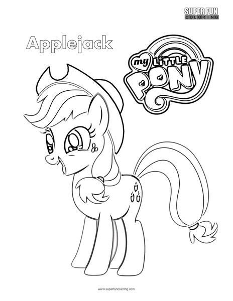 Applejack- My Little Pony Coloring Page