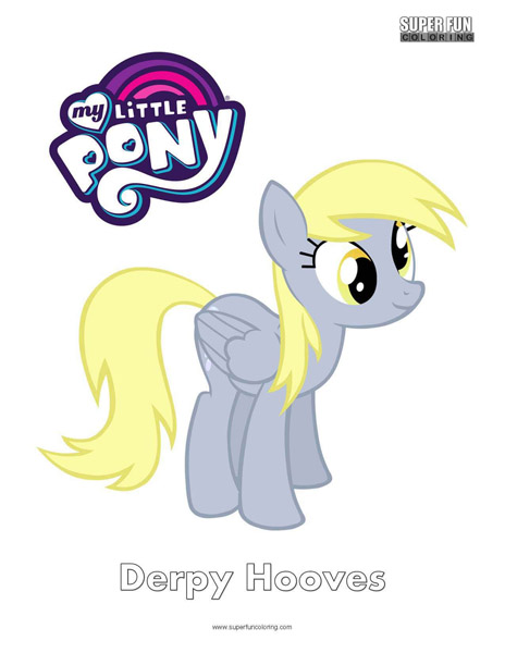 Derpy Hooves My Little Pony Coloring Page