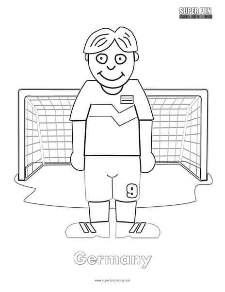 Germany Cartoon Football Coloring page