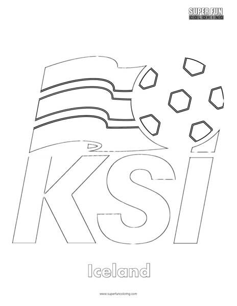 Iceland Football Coloring page
