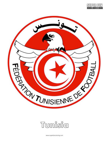 Tunisia Football Coloring Page