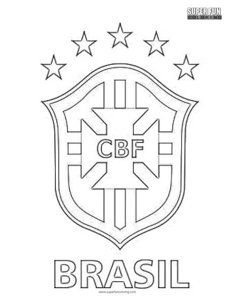 brazil soccer logo coloring pages | Brazil Football Coloring Page - Super Fun Coloring