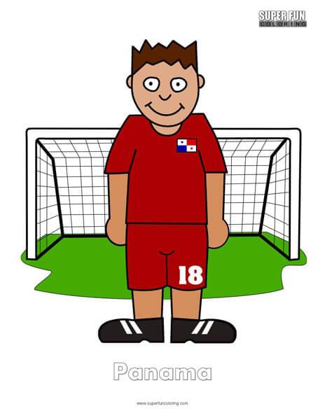 Panama Cartoon Football Coloring Page