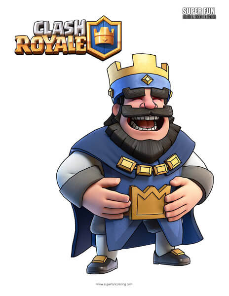 Clash Royale Coloring Page