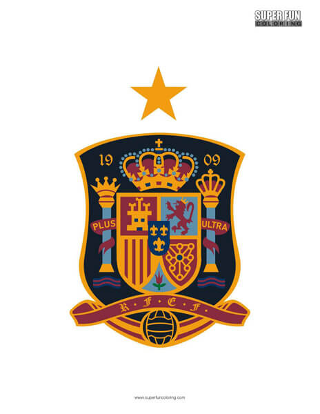 Spain Football Coloring Page