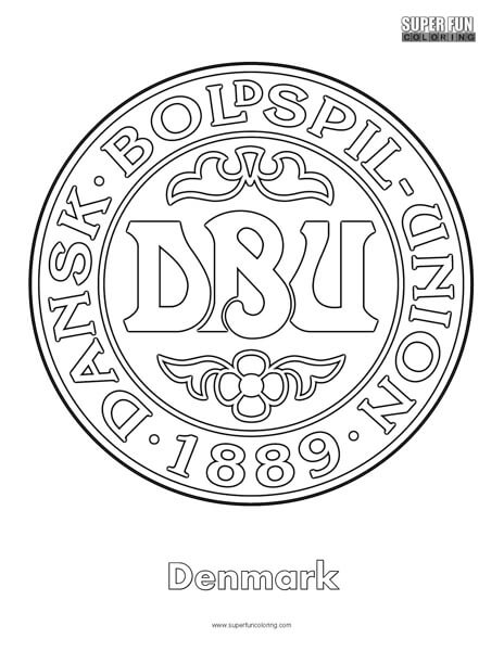 Denmark Football Coloring Page