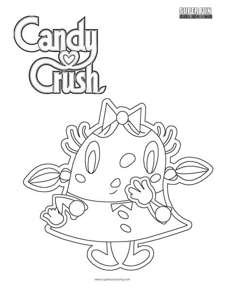 Candy Crush Coloring Page