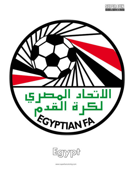 Egypt Football Coloring Page