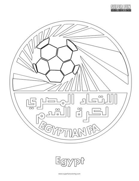 Egypt Football Coloring Page - Super Fun Coloring