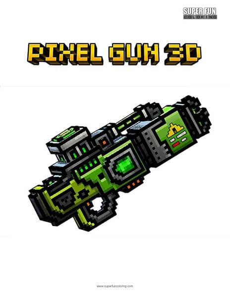 Pixel Gun 3D Coloring Page