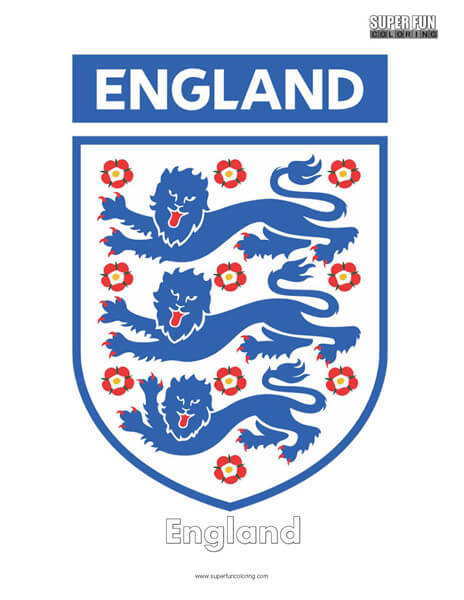 England Football Coloring Page