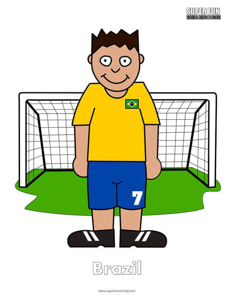 Brazil Football Coloring page