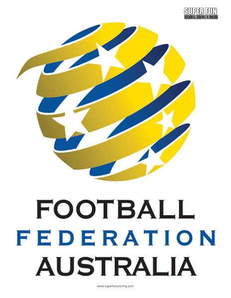 Australia Football Coloring Page