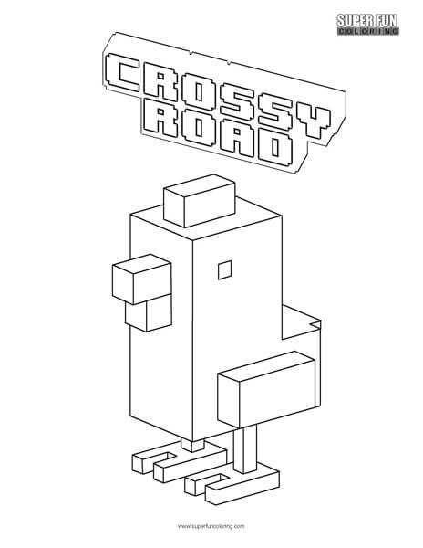 Crossy Road Coloring Page