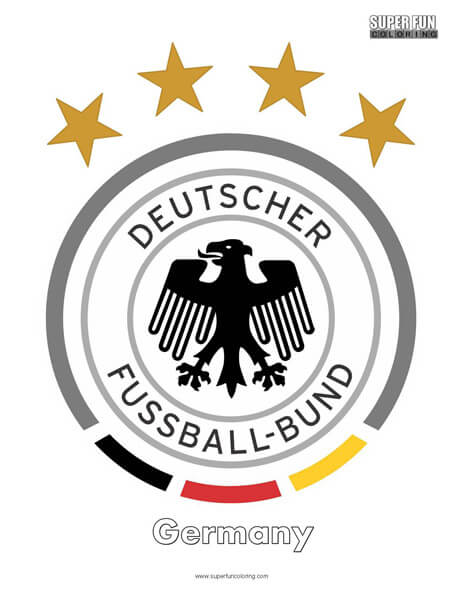 Germany Football Coloring Page