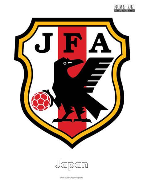 Japan Football Coloring Page