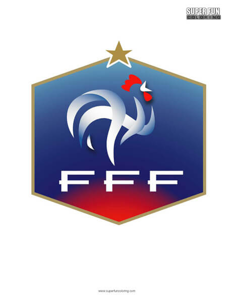 France Football Coloring Page