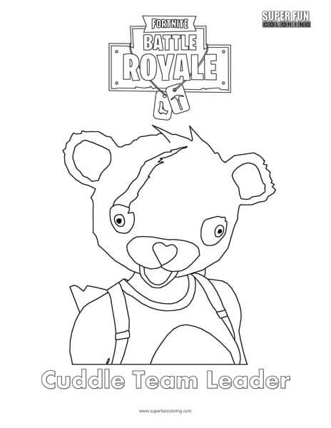 Cuddle Team Leader Fortnite Coloring Page