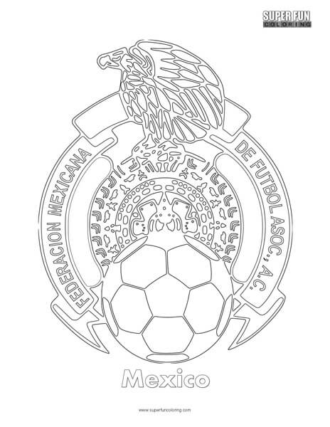Mexico Football Coloring page