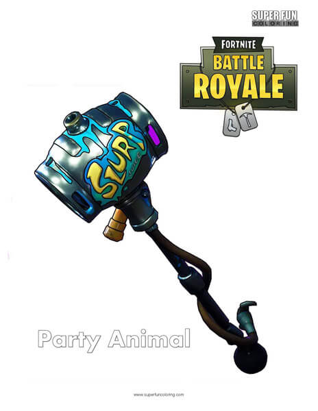 Party Animal Fortnite Coloring Page
