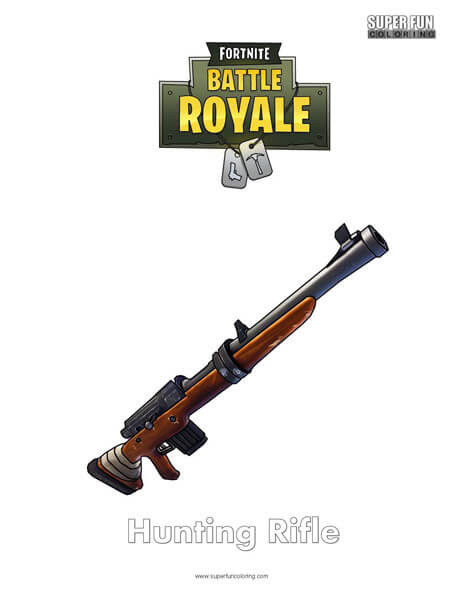 Hunting Rifle Fortnite Coloring Page