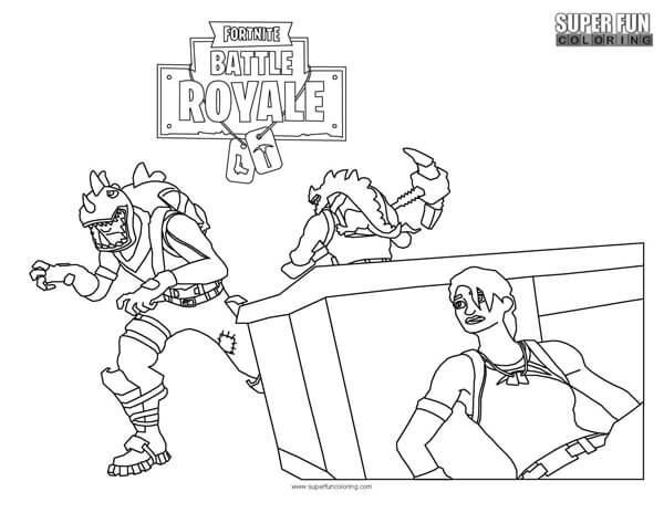 It is an image of Fortnite Coloring Pages Printable intended for 6th grader