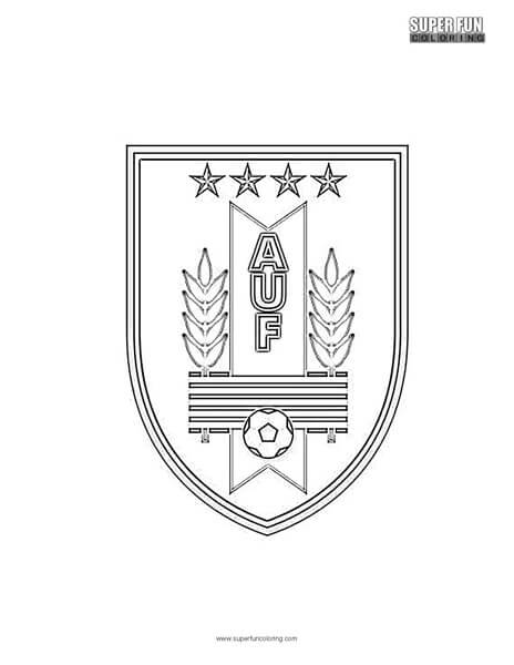 Uruguay Football Coloring page