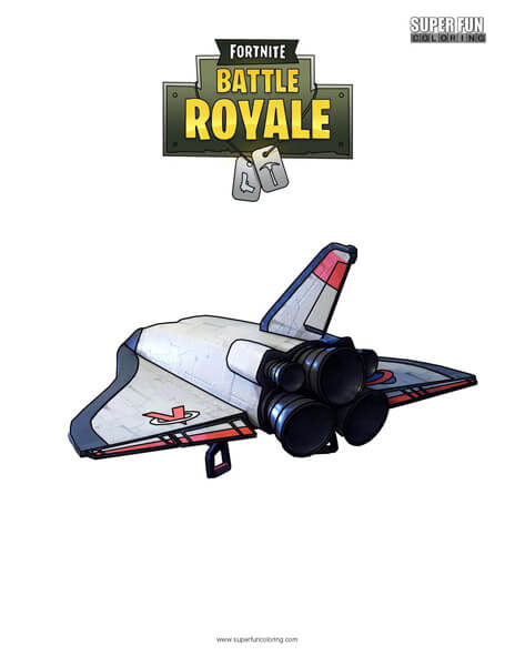 Orbital Shuttle Fortnite Coloring Page
