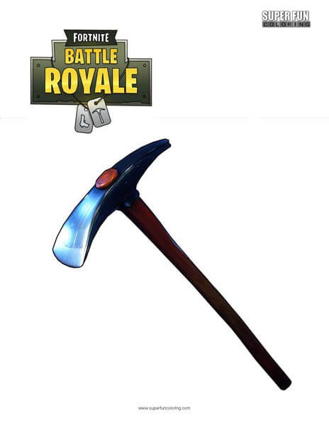Default Pickaxe Fortnite Coloring Page