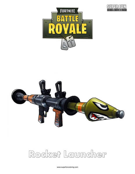 Rocket Launcher Fortnite Coloring Page