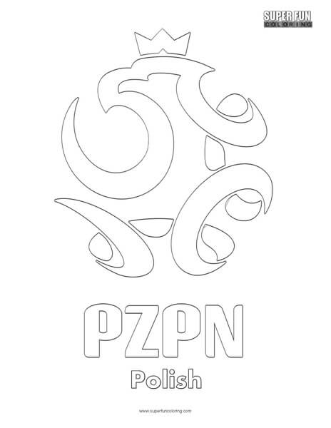 Poland Football Coloring Page