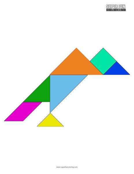 Tangram Coloring Sheet Free