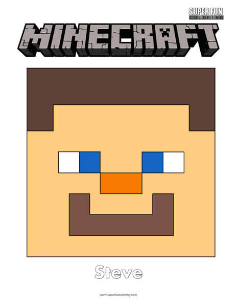Minecraft Face Coloring Page