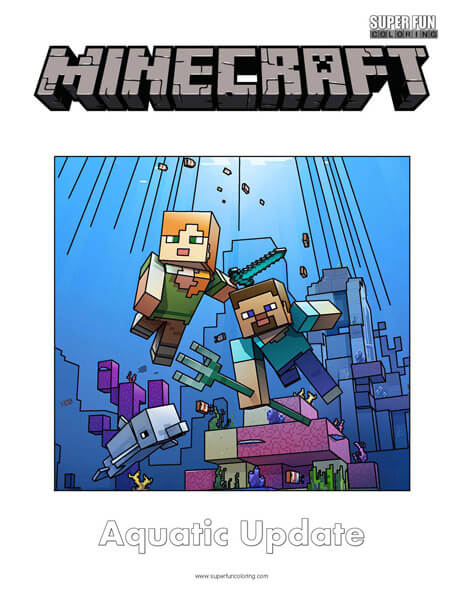 Minecraft Coloring - Super Fun Coloring