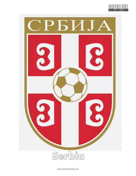 Serbia Football Coloring Page