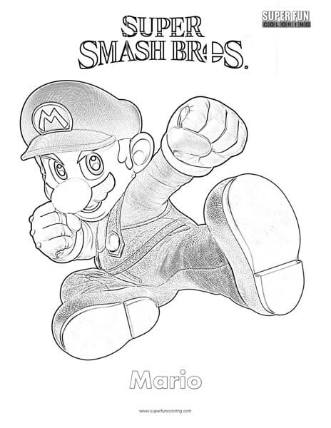 Super Mario- Super Smash Brothers Ultimate Coloring Page