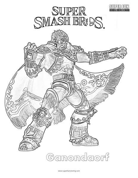 Ganondorf- Super Smash Brothers Coloring Page