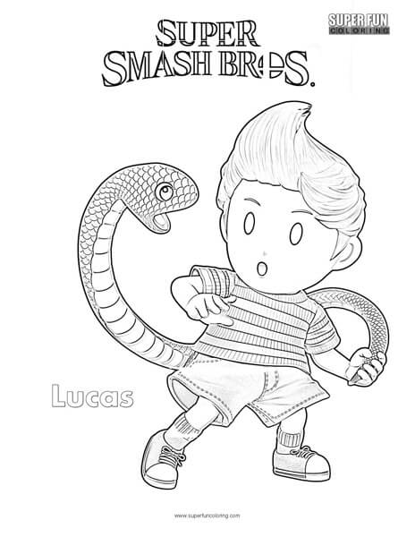 Lucas- Super Smash Brothers Coloring Page